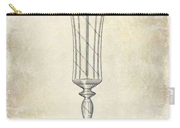 Champagne Flute Patent Drawing Carry-all Pouch