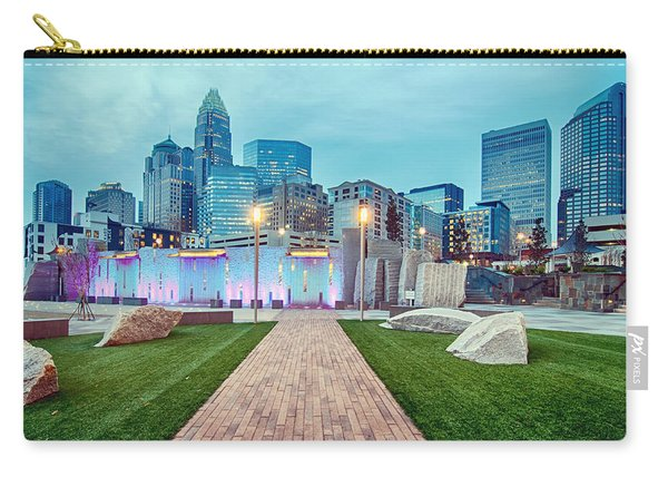Charlotte City Skyline In The Evening Carry-all Pouch