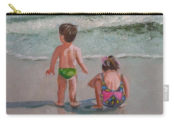 Children On The Beach Carry-all Pouch
