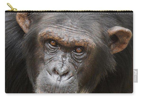 Chimpanzee Portrait Ol Pejeta Carry-all Pouch
