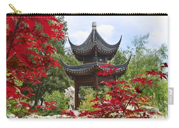 Chinese Garden With Pagoda And Lake. Carry-all Pouch