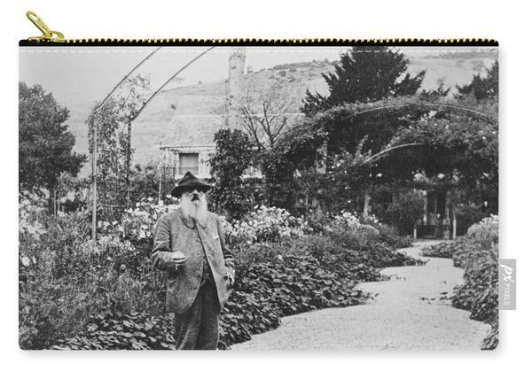 Claude Monet In His Garden At Giverny Carry-all Pouch