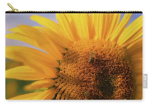 Close-up Of A Sunflower Helianthus Carry-all Pouch