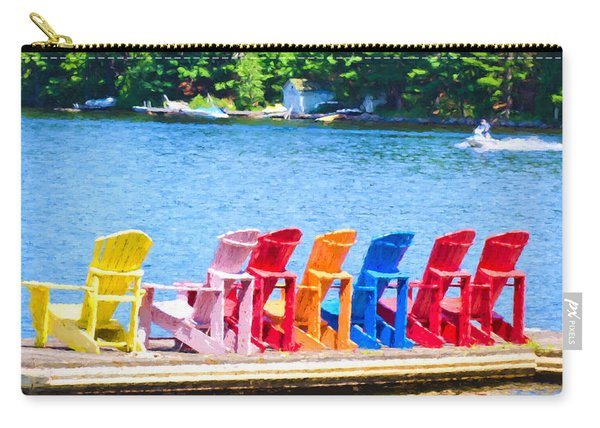 Colorful Chairs Carry-all Pouch