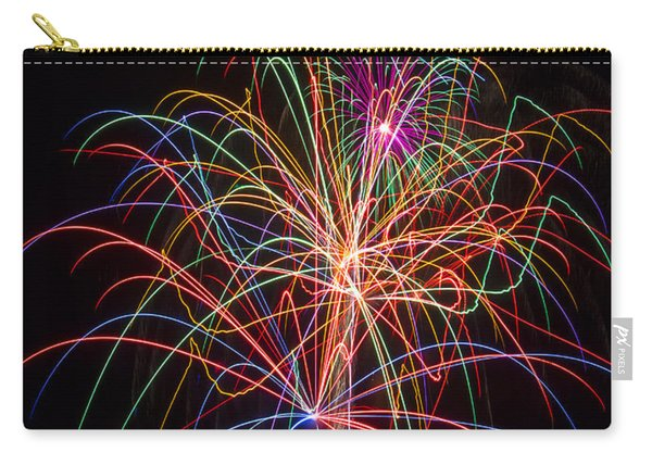 Colorful Fireworks Carry-all Pouch