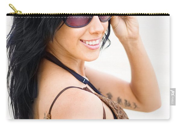 Cool Beach Babe Carry-all Pouch