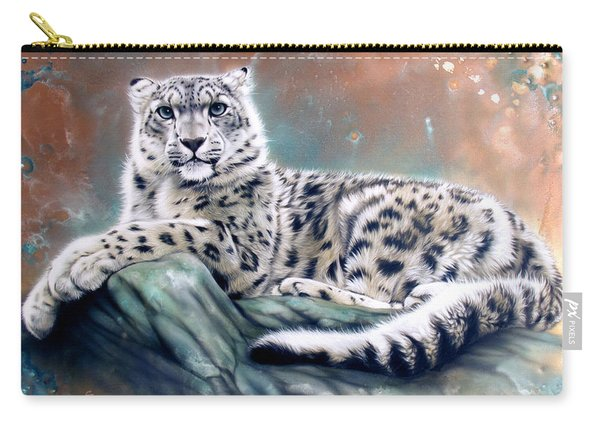 Copper Snow Leopard Carry-all Pouch