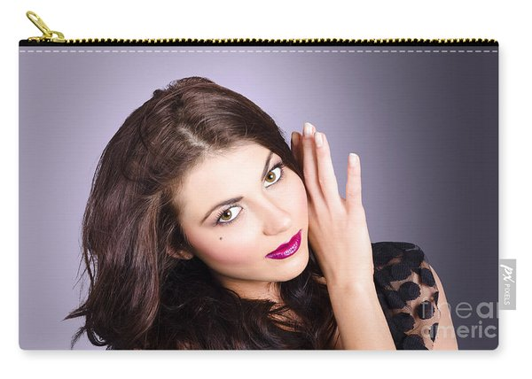 Cosmetic Beauty Portrait. Perfect Makeup Woman Carry-all Pouch