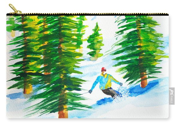 David Skiing The Trees  Carry-all Pouch