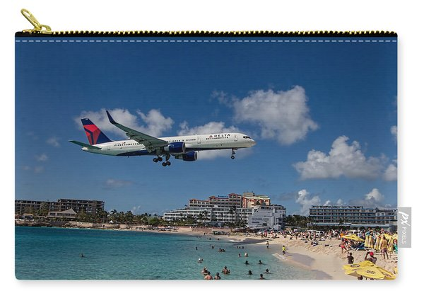 Delta Air Lines Landing At St Maarten Carry-all Pouch