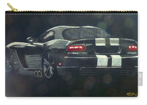 Carry-all Pouch featuring the painting Dodge Viper 2 by Richard Le Page