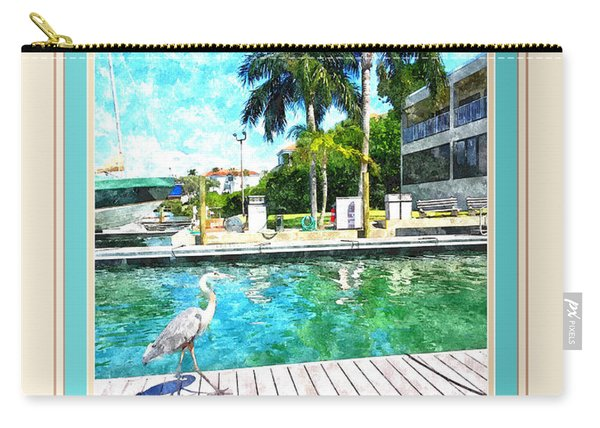Dry Dock Bird Walk - Digitally Framed Carry-all Pouch