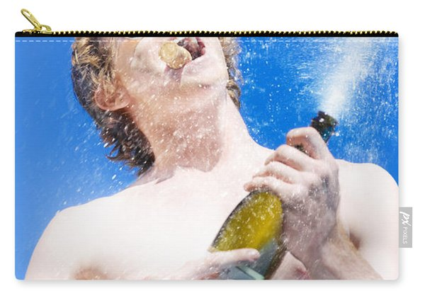 Exploding Champagne Spray Carry-all Pouch