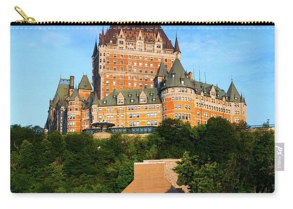 Facade Of Chateau Frontenac In Lower Carry-all Pouch