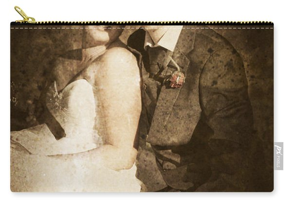Faded Vintage Wedding Photograph Carry-all Pouch