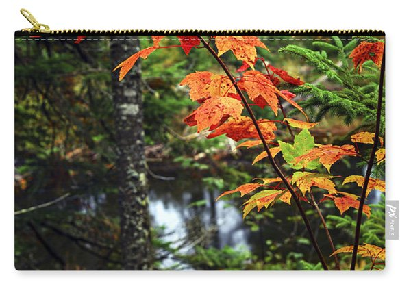 Fall Forest And River Carry-all Pouch