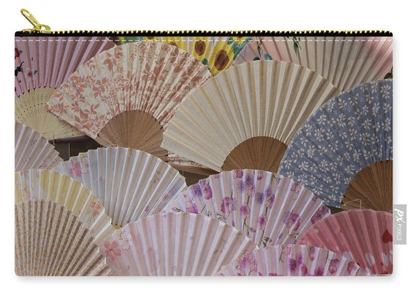 Fans For Sale At A Market Stall, Kyoto Carry-all Pouch
