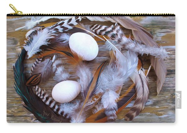 1. Feather Wreath Example Carry-all Pouch