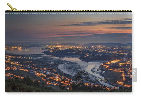 Ferrol's Ria Panorama From Mount Ancos Galicia Spain Carry-all Pouch