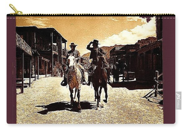Film Homage Mark Slade Cameron Mitchell Riding Horses The High Chaparral Old Tucson Az C.1967-2013 Carry-all Pouch