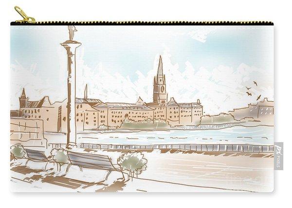 Fine Art Landscape Sketch Of Stockholm Sweden  Carry-all Pouch