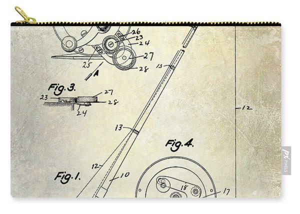 Fishing Reel Patent 1939 Carry-all Pouch