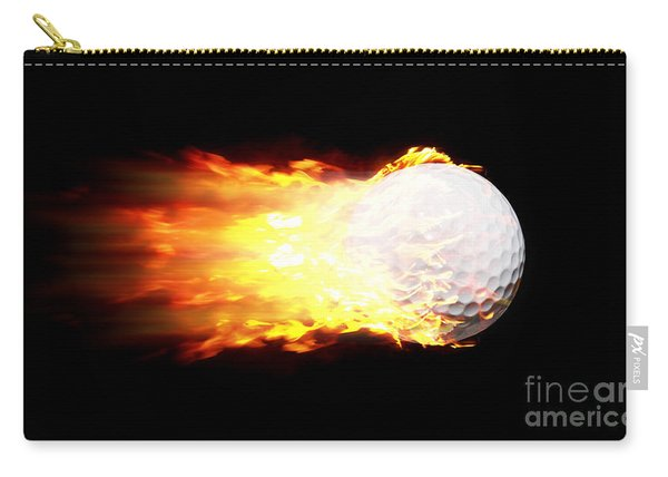Flame Golf Ball Carry-all Pouch