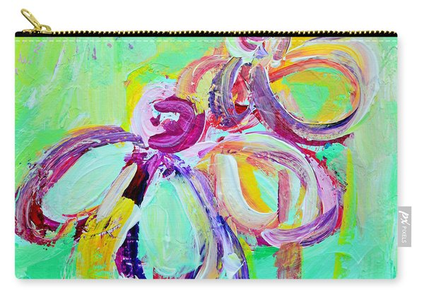 Abstract Flowers No 10 Carry-all Pouch