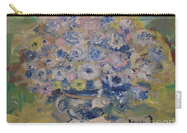 Carry-all Pouch featuring the painting Flow Bleu by Laurie Lundquist