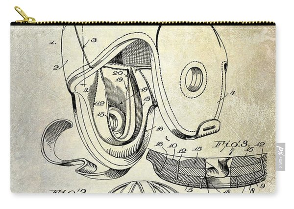 1927 Football Helmet Patent Carry-all Pouch