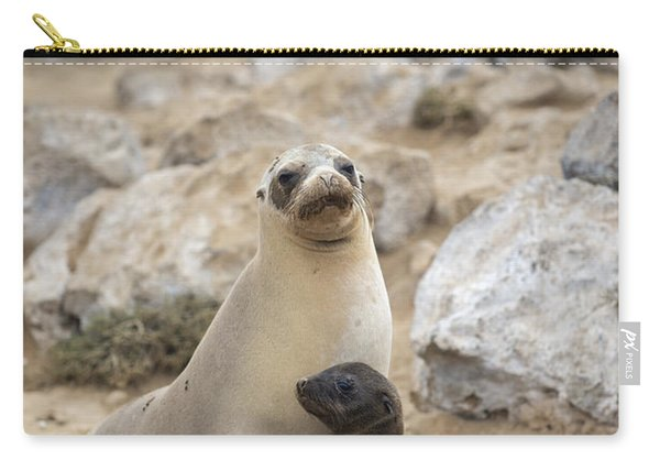 Galapagos Sea Lion And Pup Champion Carry-all Pouch