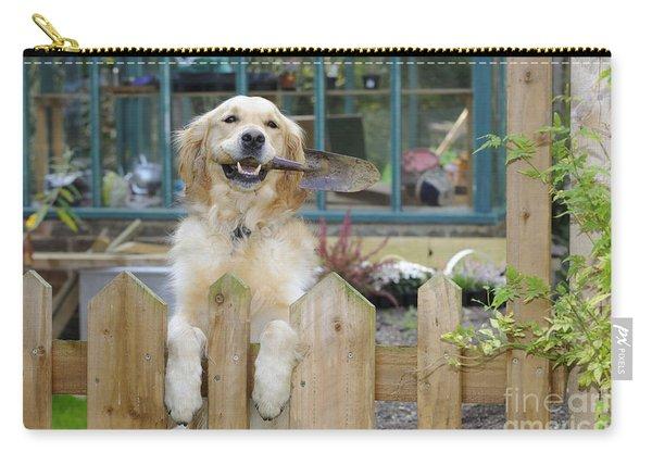 Golden Retriever Gardening Carry-all Pouch