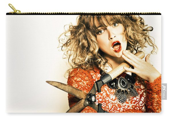 Hair Cut With Style Carry-all Pouch