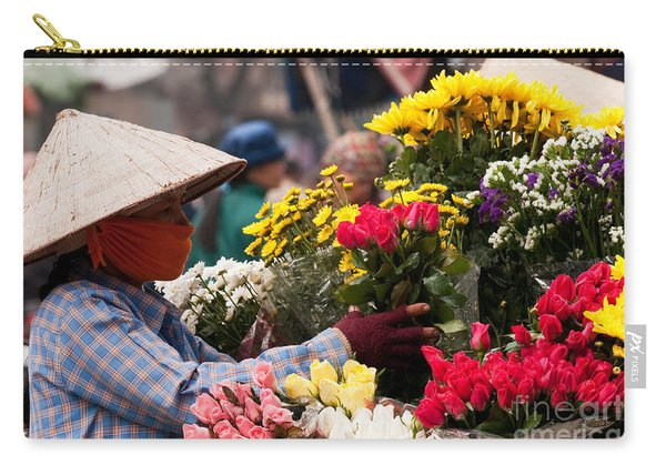 Hanoi Flowers 03 Carry-all Pouch