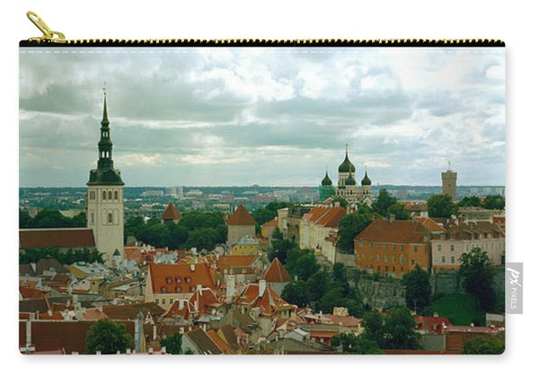 High Angle View Of A Townscape, Old Carry-all Pouch