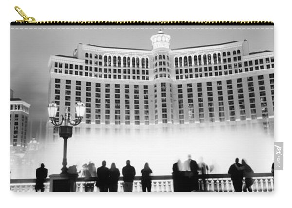 Hotel Lit Up At Night, Bellagio Resort Carry-all Pouch