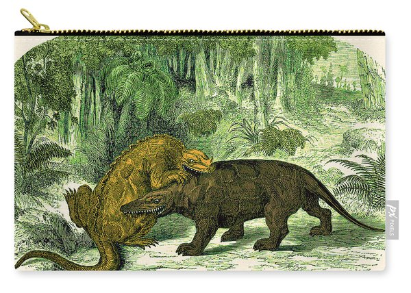 Iguanodon Biting Megalosaurus Carry-all Pouch