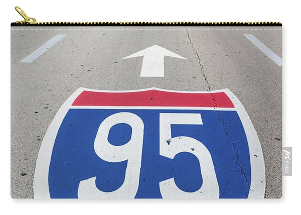 Interstate 95 Road Sign Carry-all Pouch