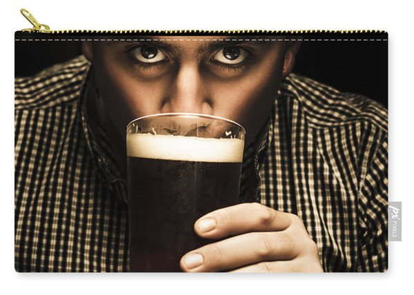 Irish Man Drinking Beer On St Patricks Day Carry-all Pouch