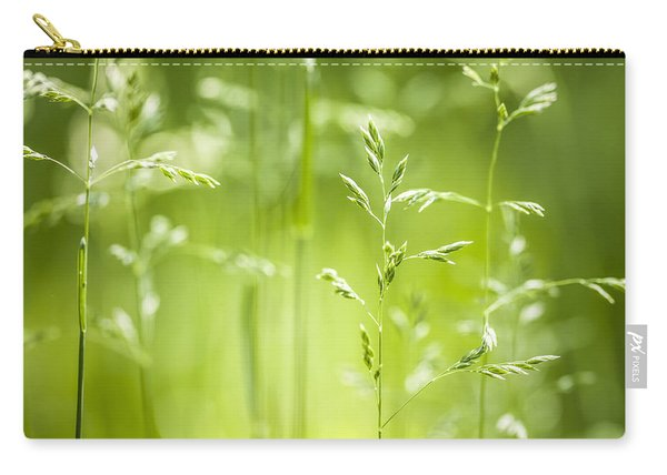 June Green Grass Flowering Carry-all Pouch
