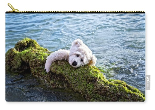 Just Hang On - Teddy Bear Art By William Patrick And Sharon Cummings Carry-all Pouch
