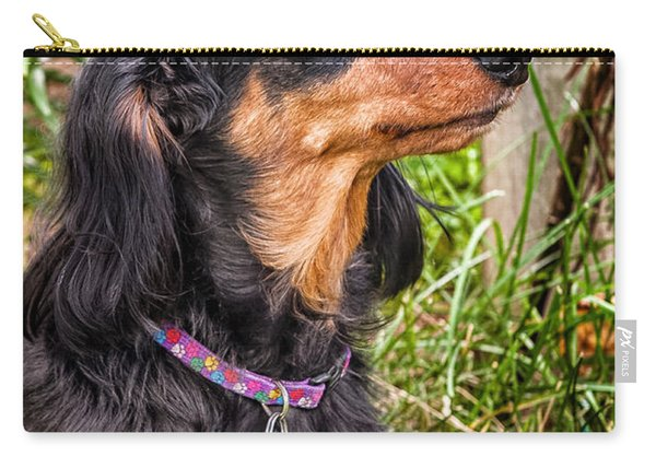 Carry-all Pouch featuring the photograph Katie by Jim Thompson
