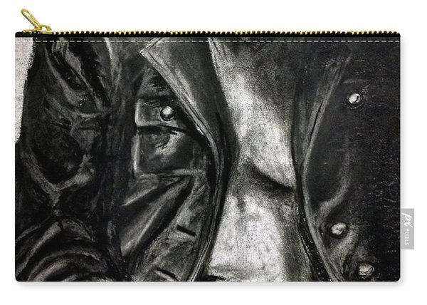 Carry-all Pouch featuring the drawing Leather Jacket by Gabrielle Wilson-Sealy