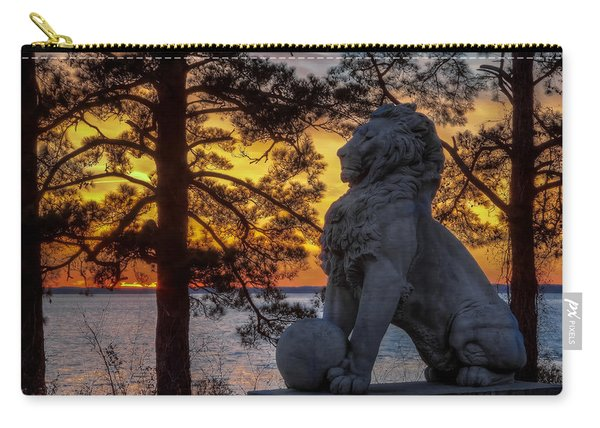Lion At Sunset Carry-all Pouch