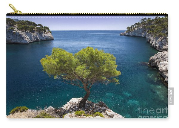 Carry-all Pouch featuring the photograph Lone Pine Tree by Brian Jannsen