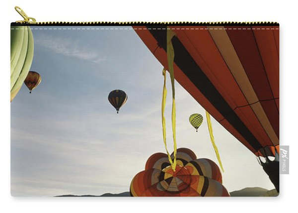 Low Angle View Of Hot Air Balloons Carry-all Pouch