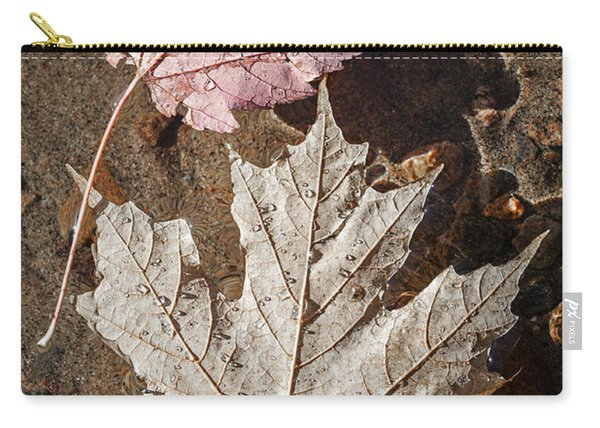 Maple Leaves In Water Carry-all Pouch