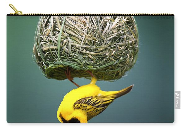 Masked Weaver At Nest Carry-all Pouch