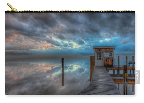 Melvin Village Marina In The Fog Carry-all Pouch