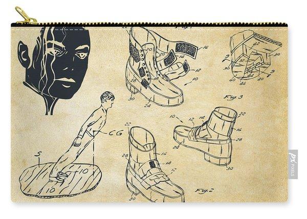 Michael Jackson Anti-gravity Shoe Patent Artwork Vintage Carry-all Pouch